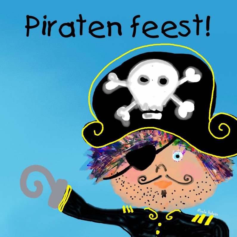 Kinderfeestjes - Piraat feestje uitnodiging