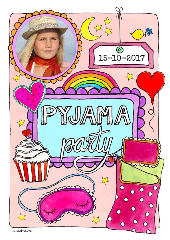 Kinderfeestjes - Slaapfeestje Pyjama party meisje -SD
