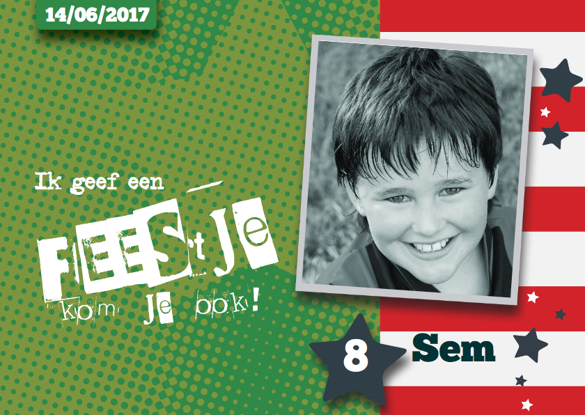 Kinderfeestjes - Sportieve Uitnodiging Kinderfeestje Sem