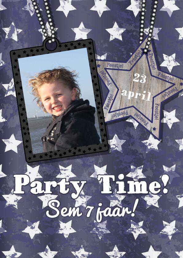 Kinderfeestjes - Stoere FOTO  uitnodiging sterren