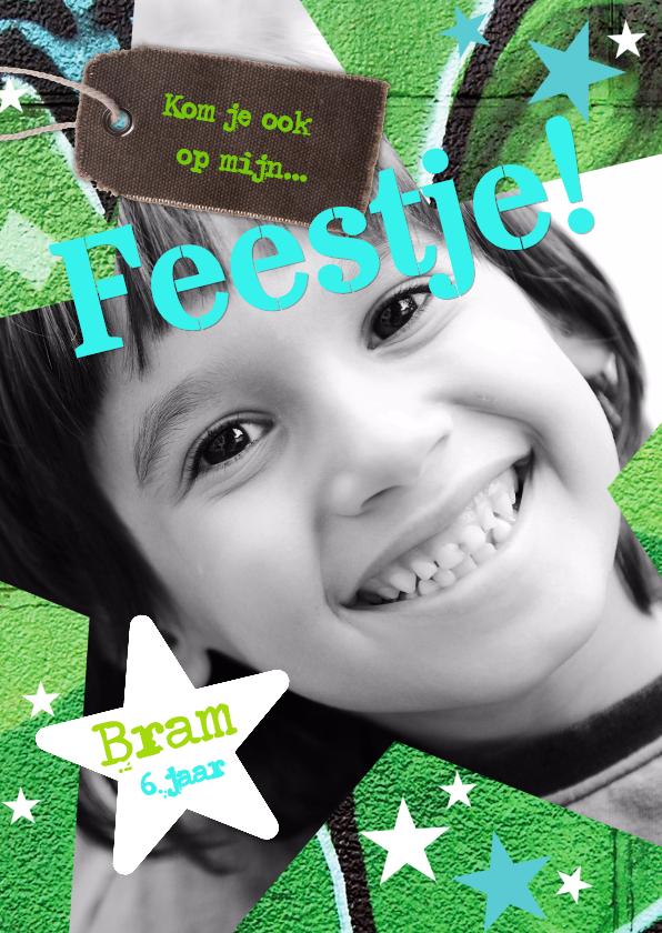 Kinderfeestjes - Stoere kaart voor jongen Ster