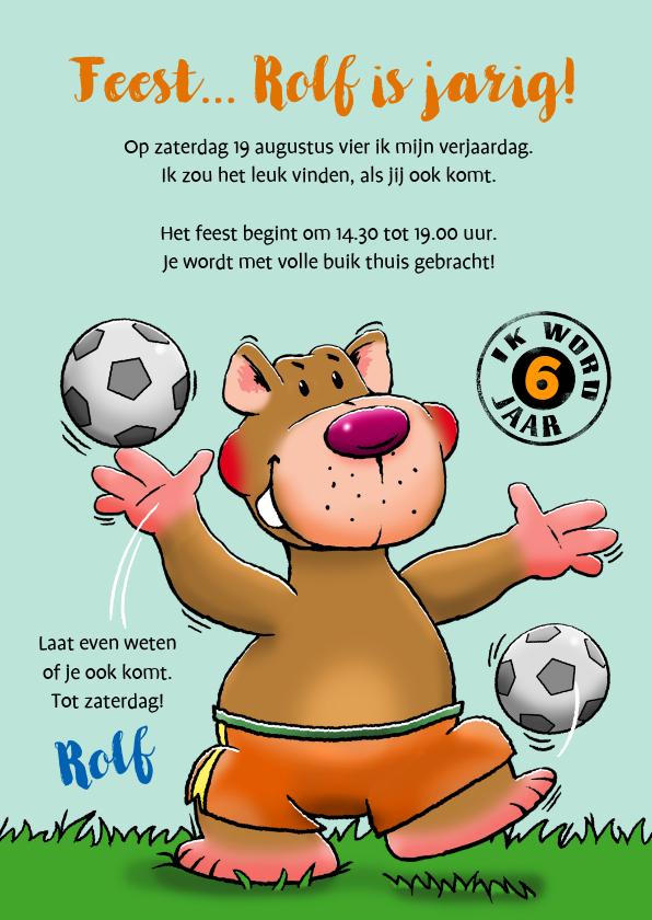 Kinderfeestjes - Stoere uitnodiging voor (voetbal)feestje met vriendjes