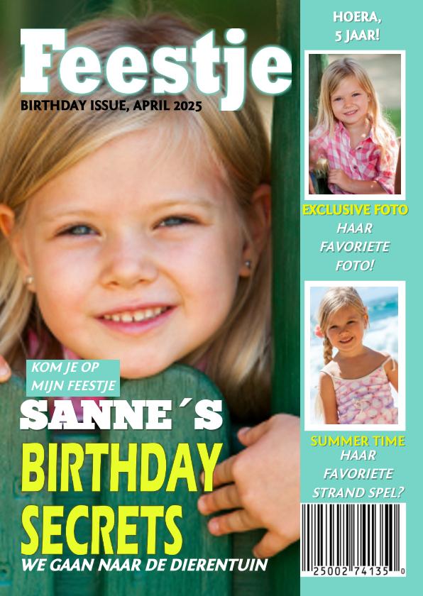 Kinderfeestjes - Tijdschrift kinderfeest Meisje x jaar