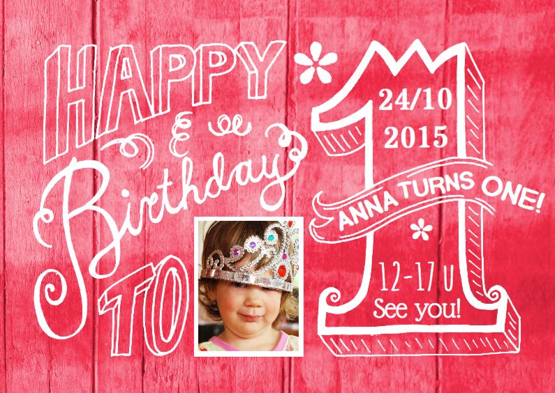 Kinderfeestjes - Uitnodiging 1 jaar Anna