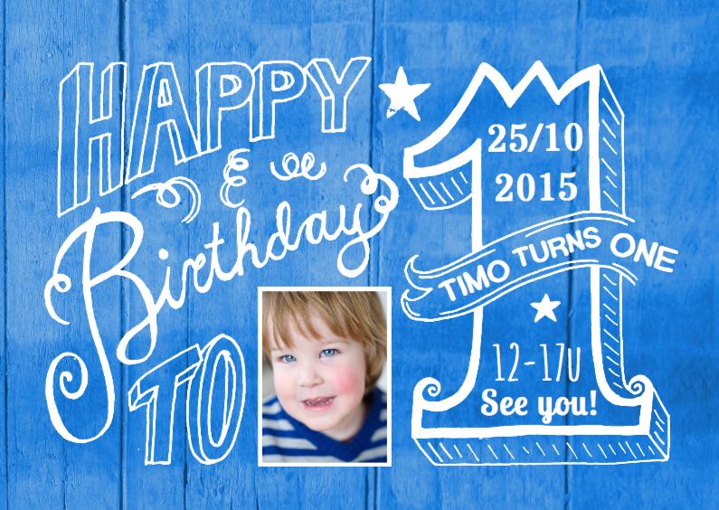 Kinderfeestjes - Uitnodiging 1 jaar Timo