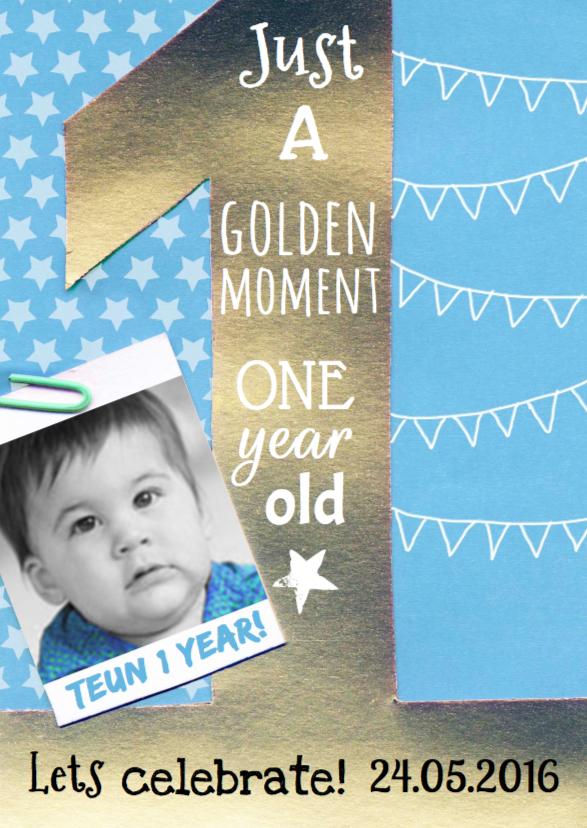 Kinderfeestjes - Uitnodiging 1 jaarTeun