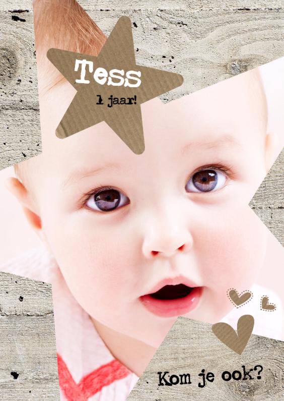 Kinderfeestjes - Uitnodiging baby uitnodiging