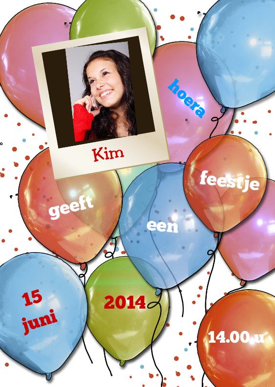 Kinderfeestjes - Uitnodiging balonnen