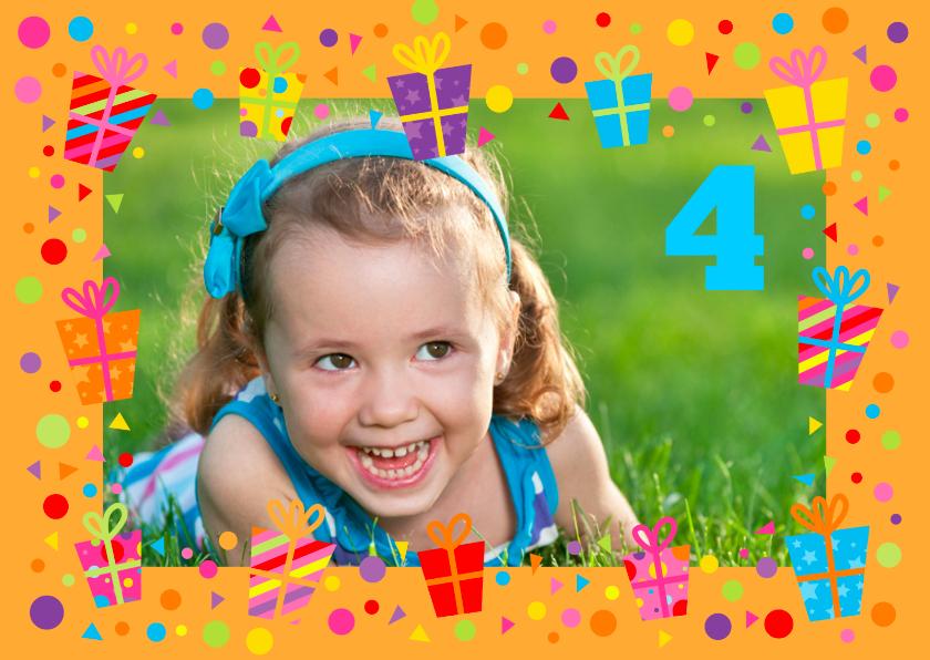 Kinderfeestjes - Uitnodiging Cadeau Kader Foto