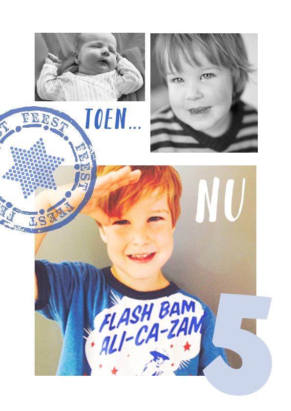 Kinderfeestjes - Uitnodiging Collage Klein en nu