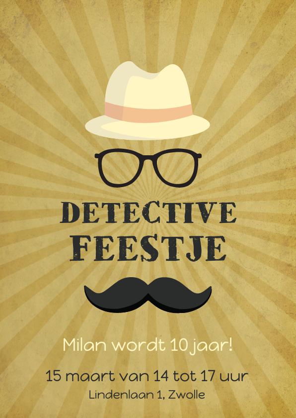 Kinderfeestjes - Uitnodiging detective feestje