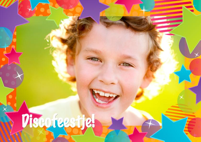 Kinderfeestjes - Uitnodiging Discofeestje Eigen Foto