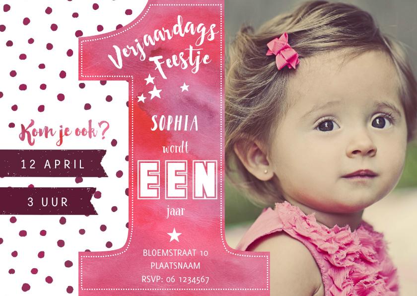 Kinderfeestjes - Uitnodiging EEN Jaar Feest