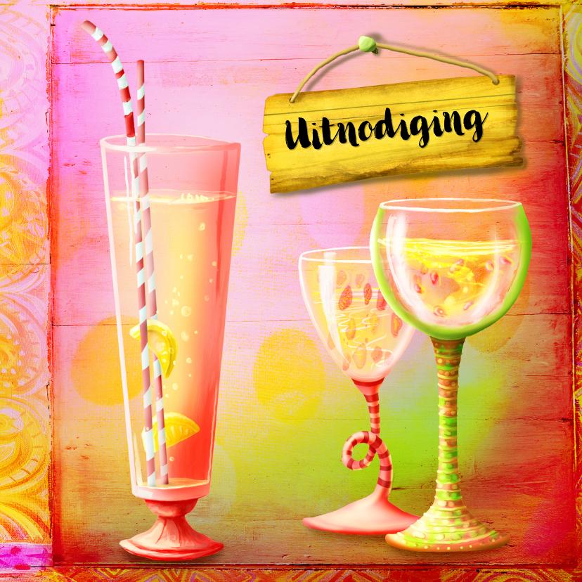 Kinderfeestjes - Uitnodiging Feest Cocktails - SG