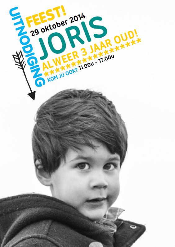 Kinderfeestjes - Uitnodiging feestje Joris