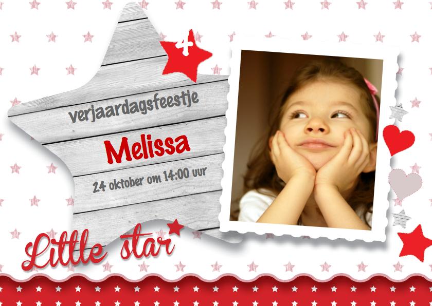 Kinderfeestjes - Uitnodiging feestje meisje Ster