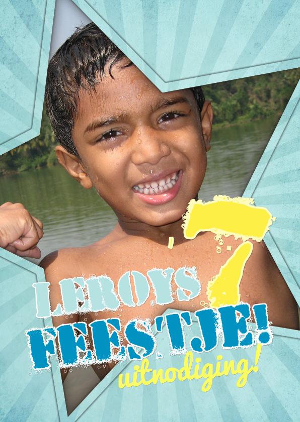 Kinderfeestjes - Uitnodiging Feestje ster 1LS3