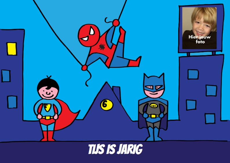 Kinderfeestjes - uitnodiging feestje superhelden