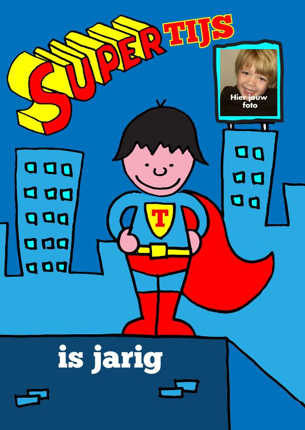 Kinderfeestjes - uitnodiging feestje superman