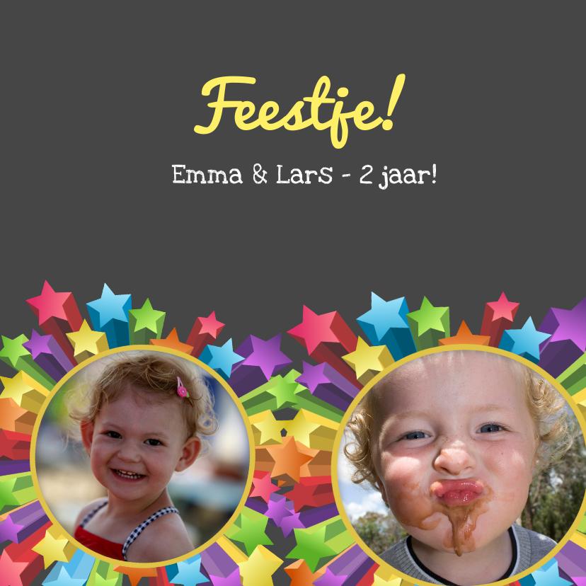 Kinderfeestjes - Uitnodiging feestje tweeling
