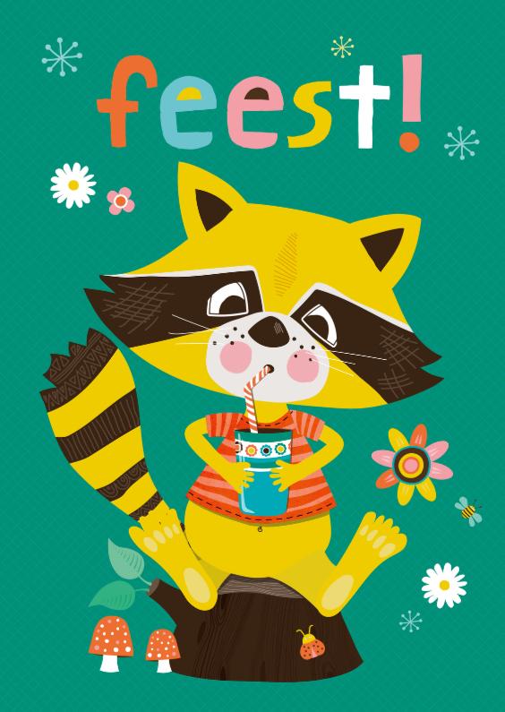 Kinderfeestjes - Uitnodiging feestje wasbeer
