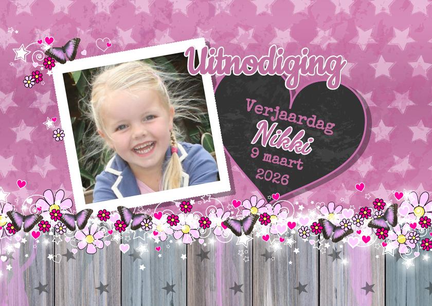 Uitnodiging foto Lief VLINDER 1