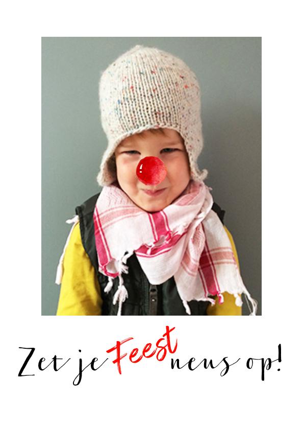 Kinderfeestjes - Uitnodiging foto rode neus