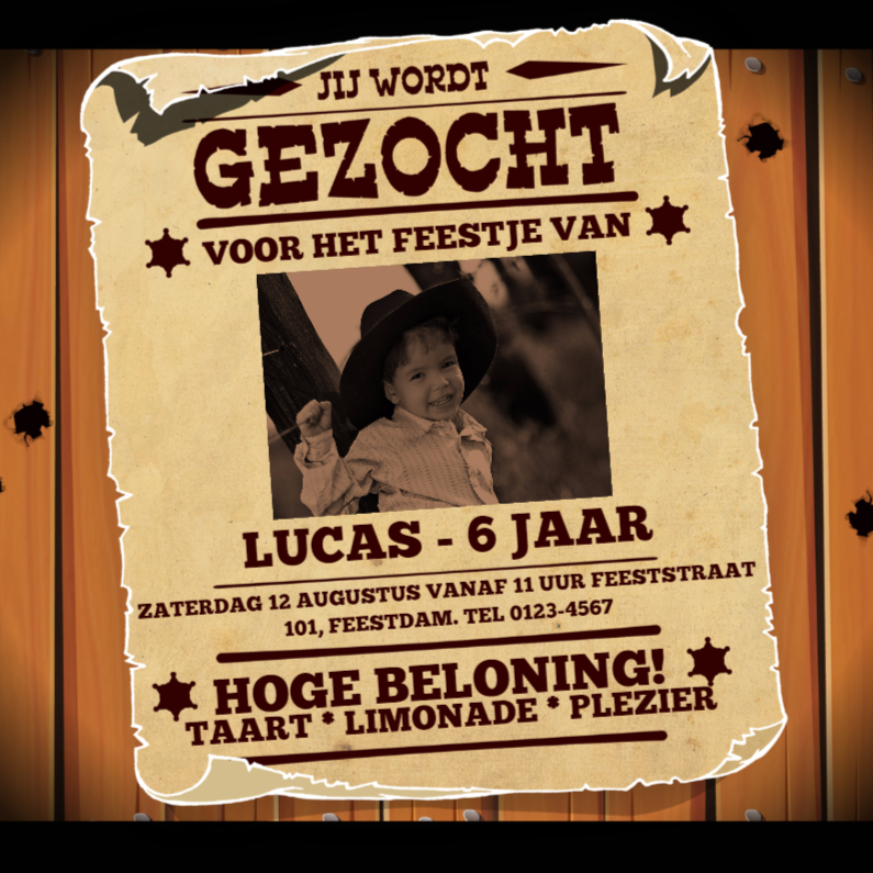 Kinderfeestjes - Uitnodiging GEZOCHT poster