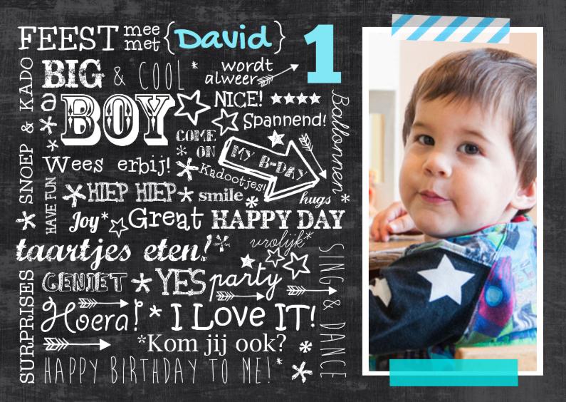 Kinderfeestjes - Uitnodiging handlettering David