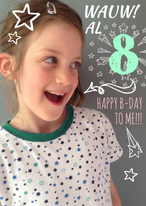 Kinderfeestjes - Uitnodiging Handlettering Ster
