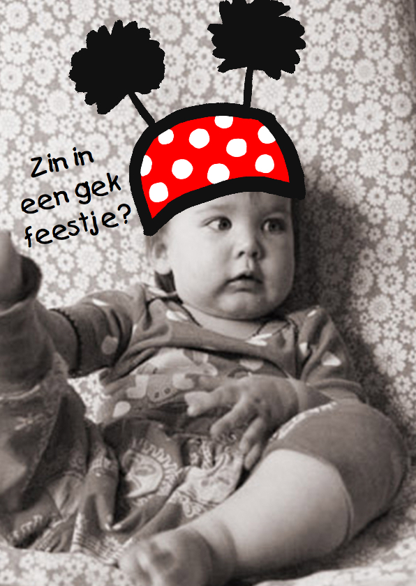Kinderfeestjes - Uitnodiging hoedje op je hoofd