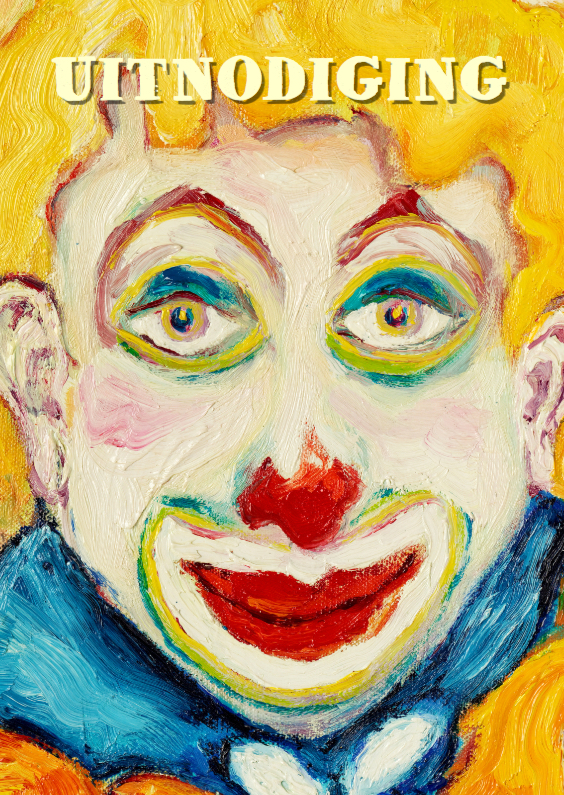 Kinderfeestjes - Uitnodiging kinderfeest clown