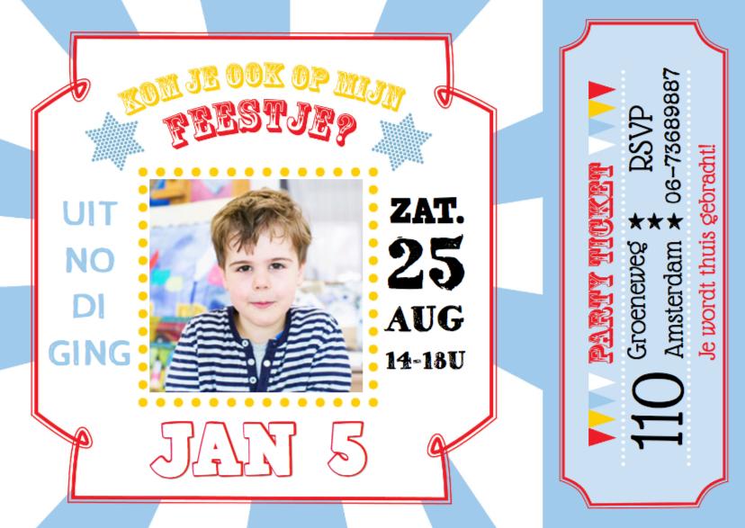 Kinderfeestjes - Uitnodiging kinderfeest Jan