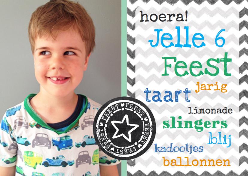 Kinderfeestjes - Uitnodiging kinderfeest Jelle