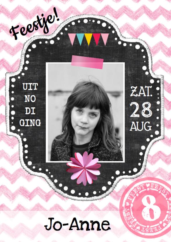 Kinderfeestjes - Uitnodiging kinderfeest Jo Anne