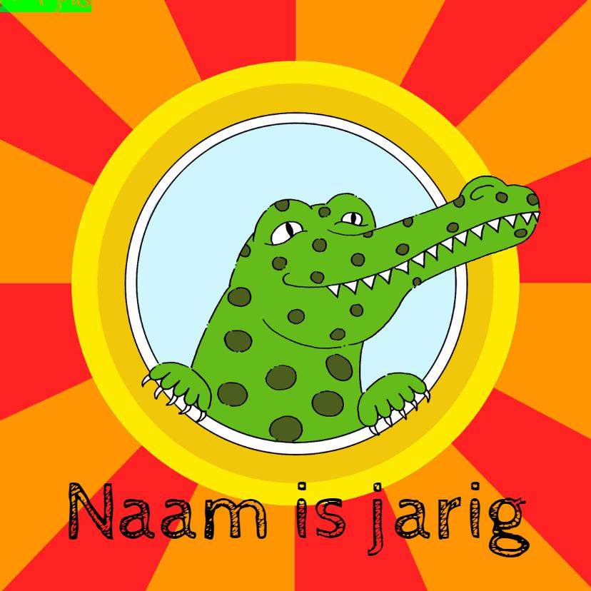 Kinderfeestjes - Uitnodiging kinderfeest krokodil