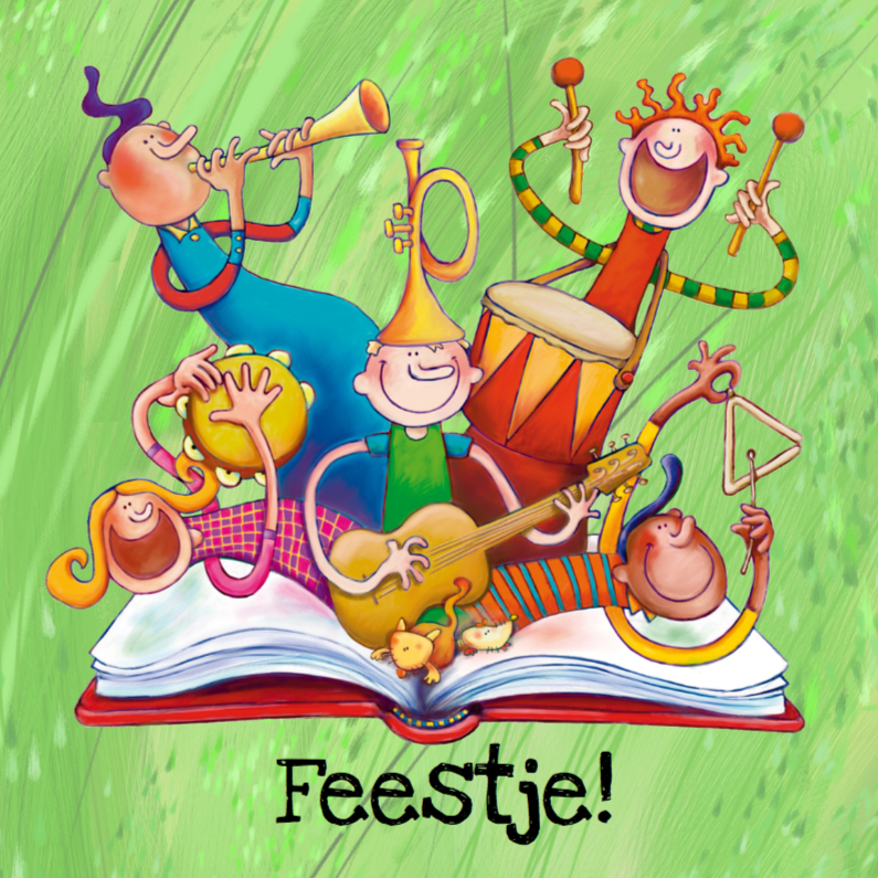 Kinderfeestjes - Uitnodiging Kinderfeest Muziek