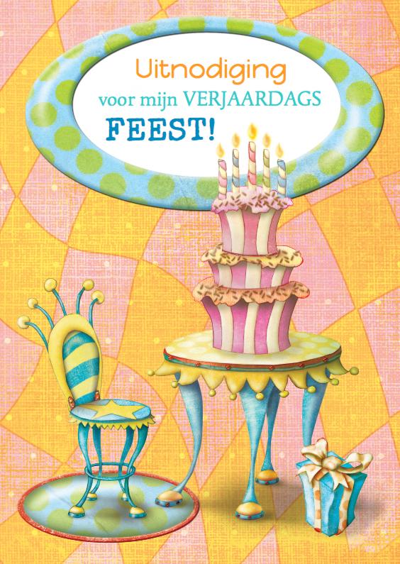 Kinderfeestjes - Uitnodiging Kinderfeest stripkaart