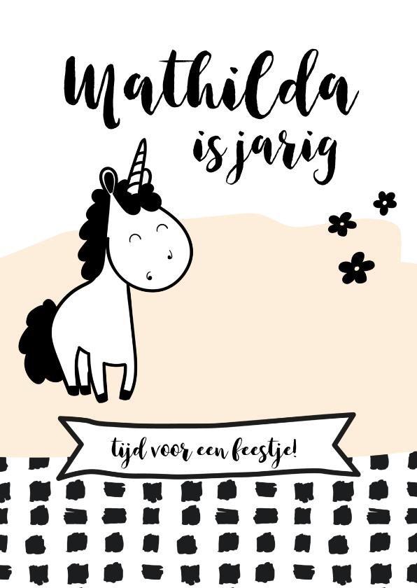 Kinderfeestjes - Uitnodiging kinderfeest Unicorn