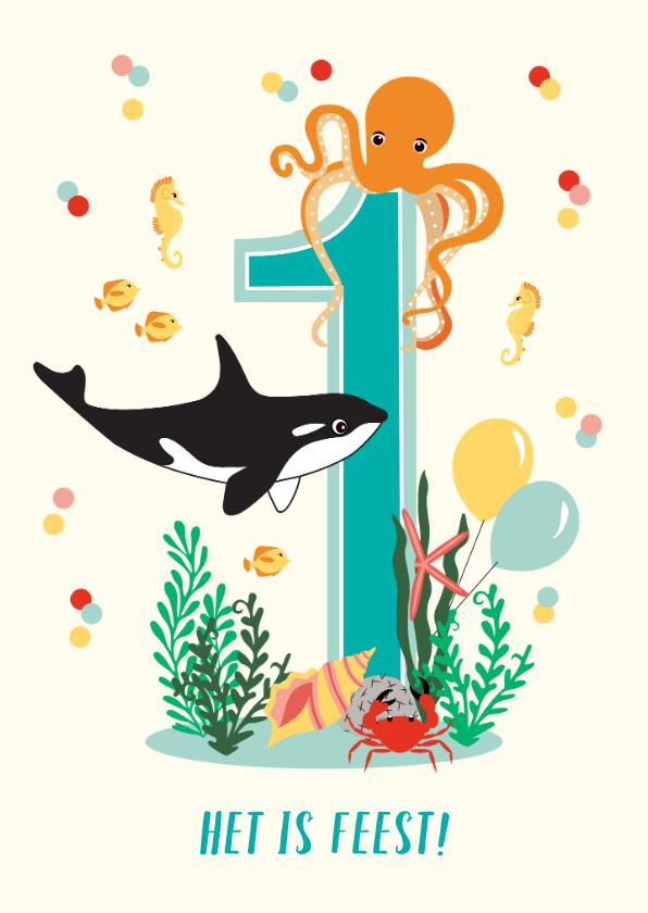 Kinderfeestjes - Uitnodiging kinderfeestje diep in de zee