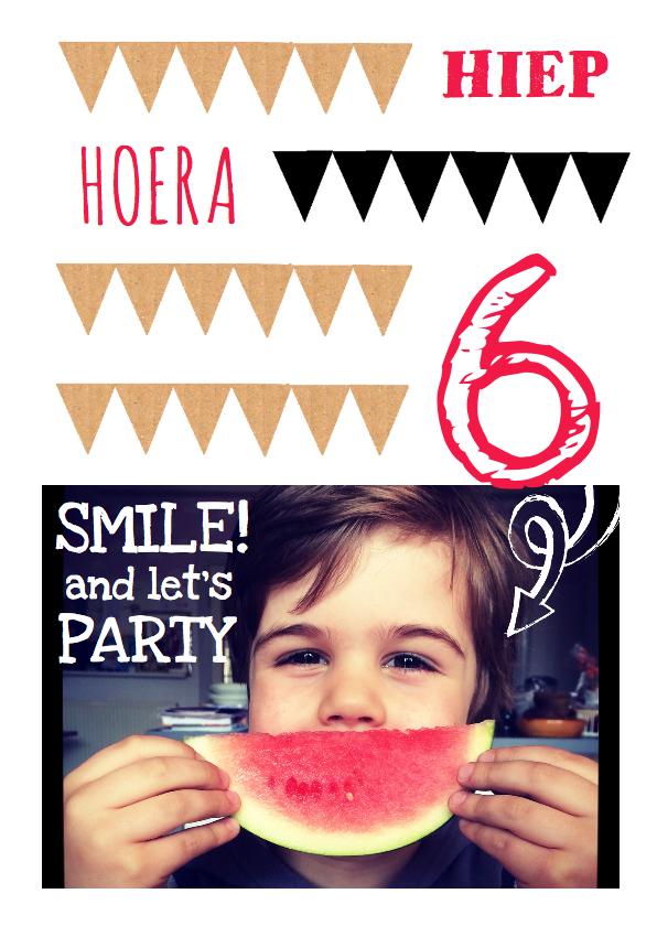 Kinderfeestjes - Uitnodiging kinderfeestje hip 6