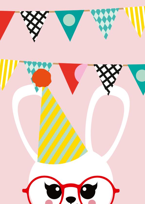 Kinderfeestjes - Uitnodiging kinderfeestje konijn