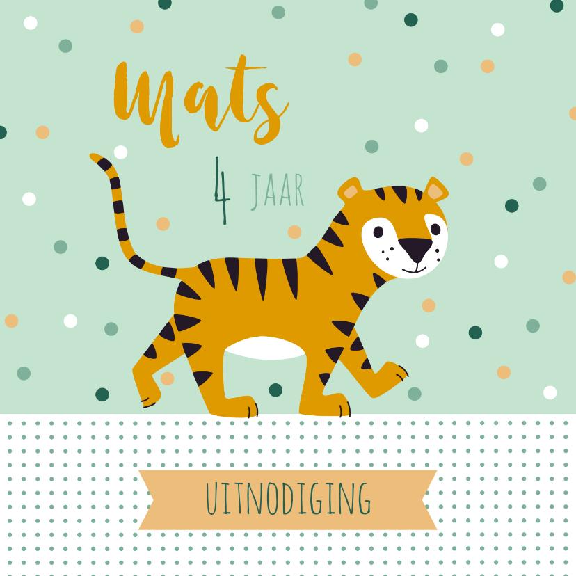 Kinderfeestjes - Uitnodiging kinderfeestje lieve tijger