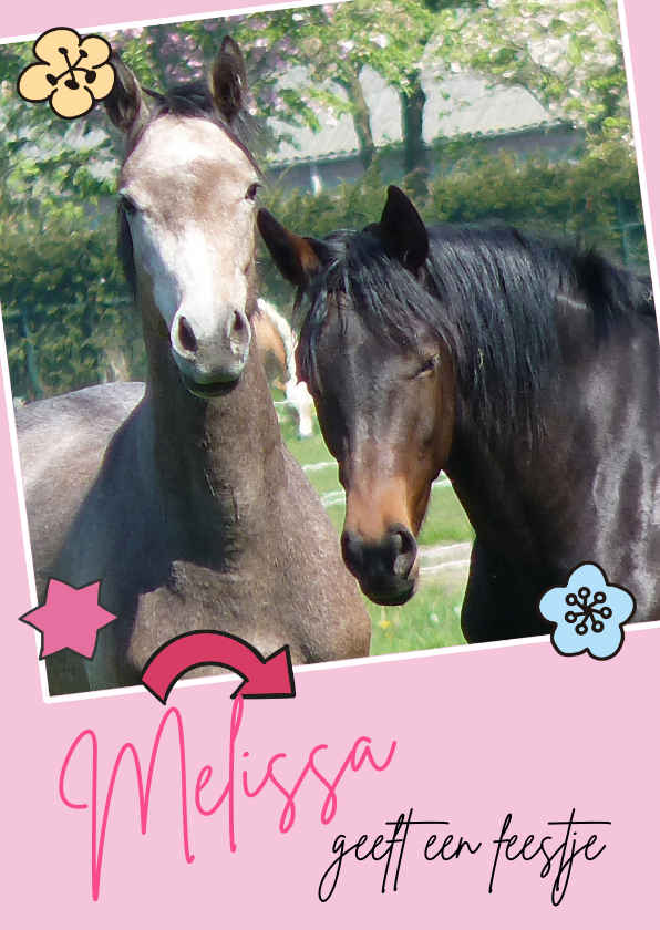 Kinderfeestjes - Uitnodiging Kinderfeestje paarden