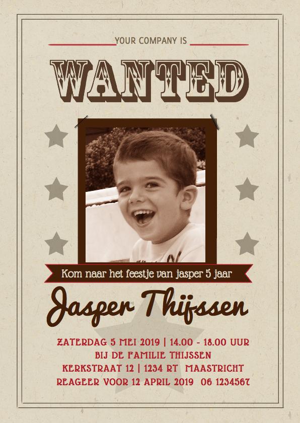 Kinderfeestjes - Uitnodiging kinderfeestje retro