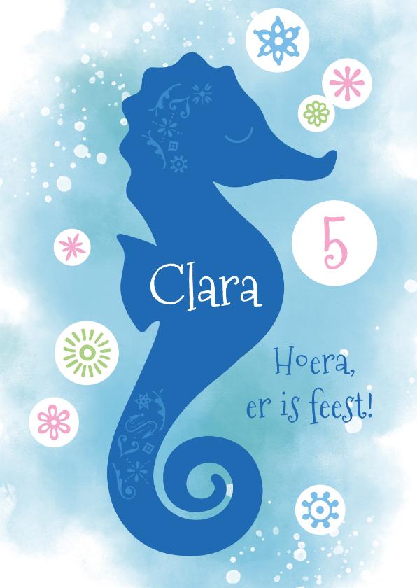 Kinderfeestjes - Uitnodiging kinderfeestje zeepaardje onderwater