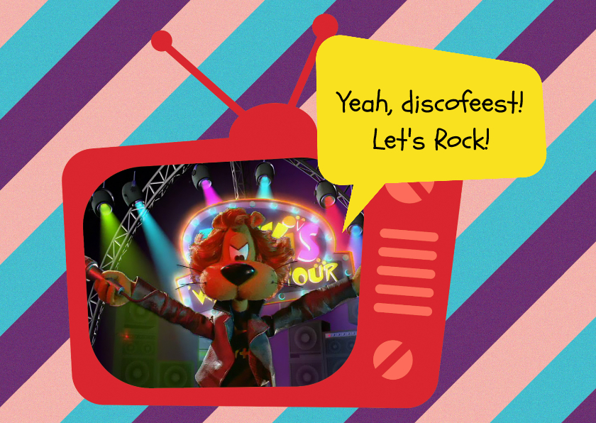 Kinderfeestjes - Uitnodiging Loeki tv disco -A