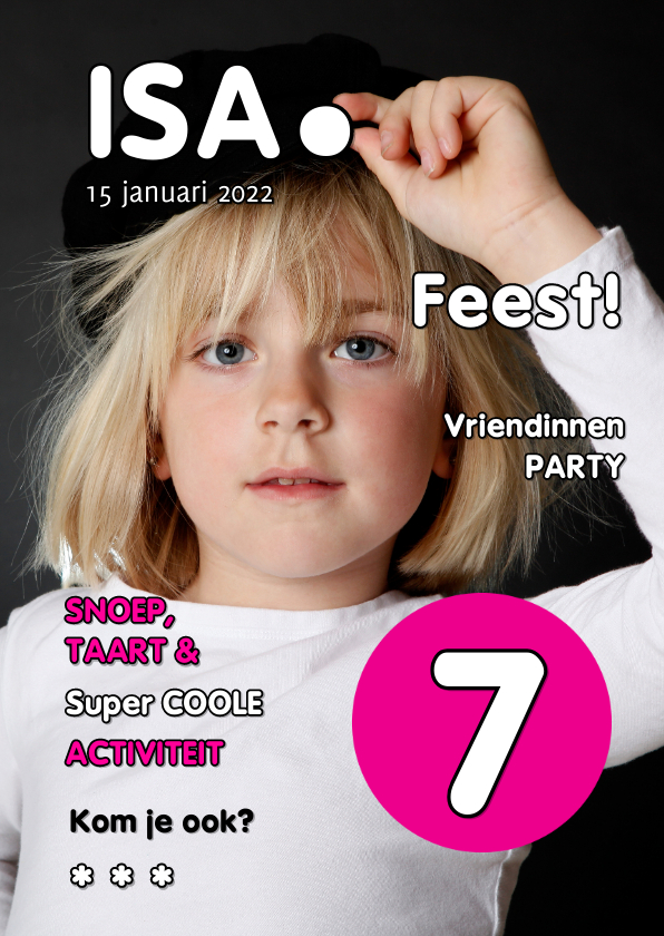 Kinderfeestjes - Uitnodiging Magazine Cover 1 - OT