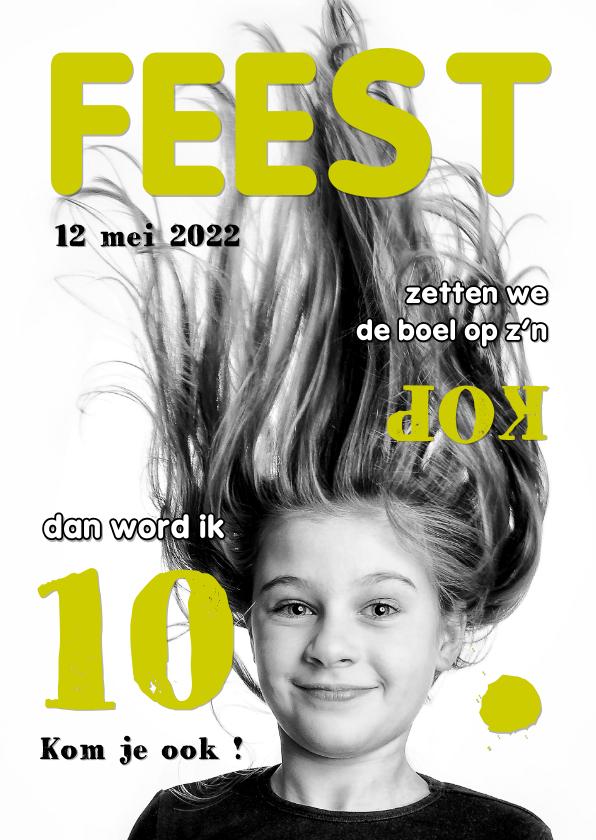 Kinderfeestjes - Uitnodiging Magazine Cover 4 OT