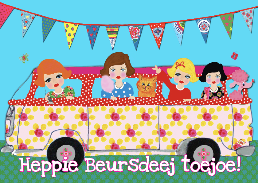 Kinderfeestjes - uitnodiging meidenbus PA